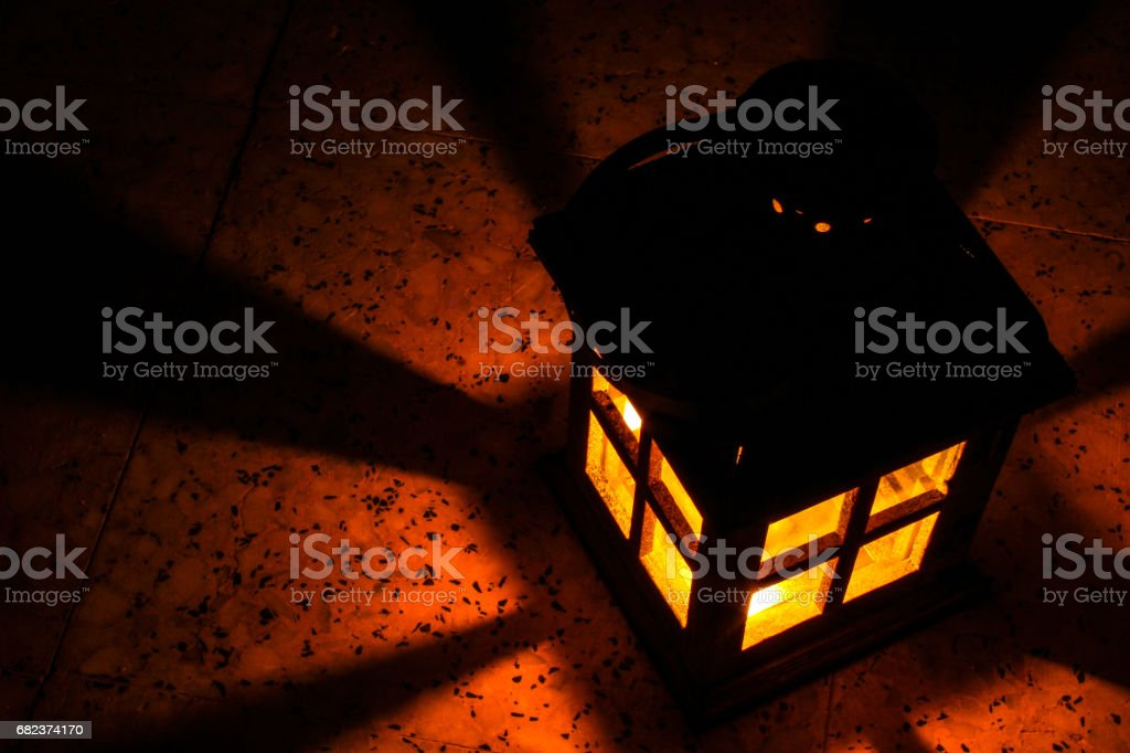 house shape lantern glows royalty free stockfoto
