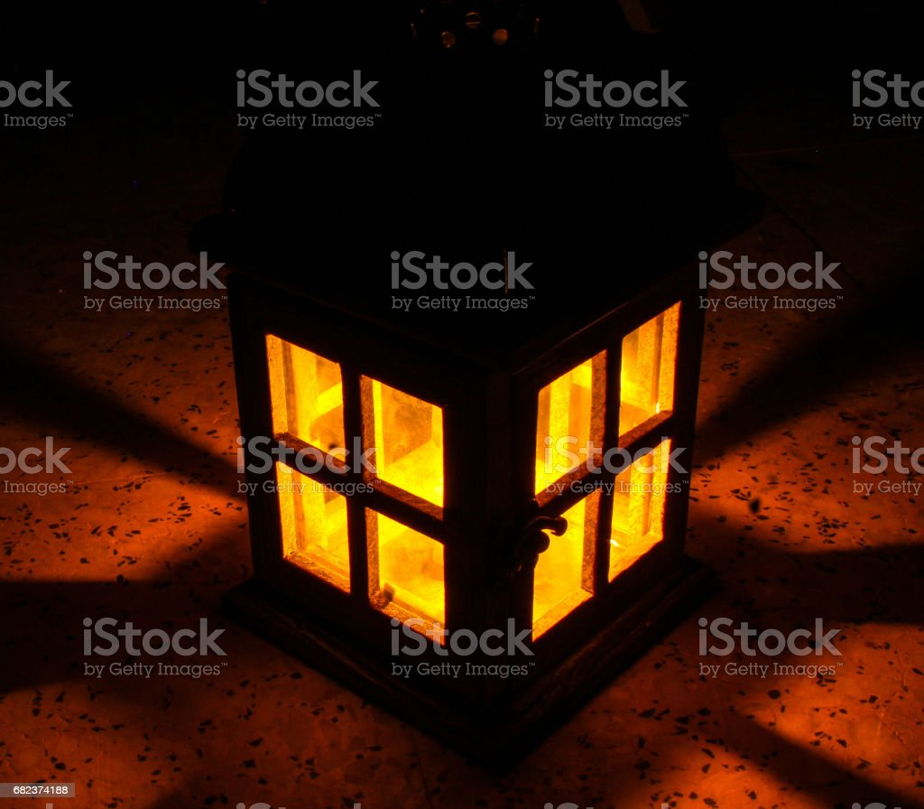 house shape lantern glows royalty-free stock photo