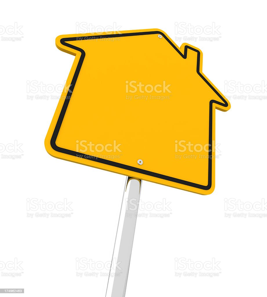 House shape road sign royalty-free stock photo