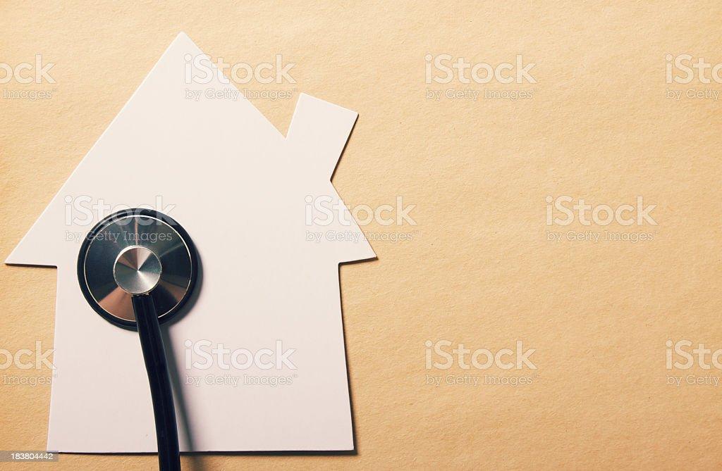 House Shape Stethoscope stock photo