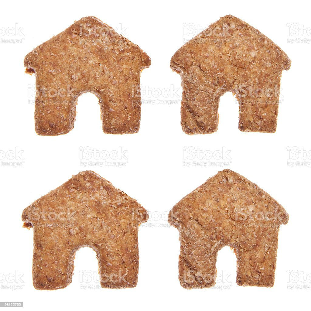 House Shaped Cookies royalty-free stock photo
