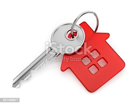 istock House shaped key-chain 497489971