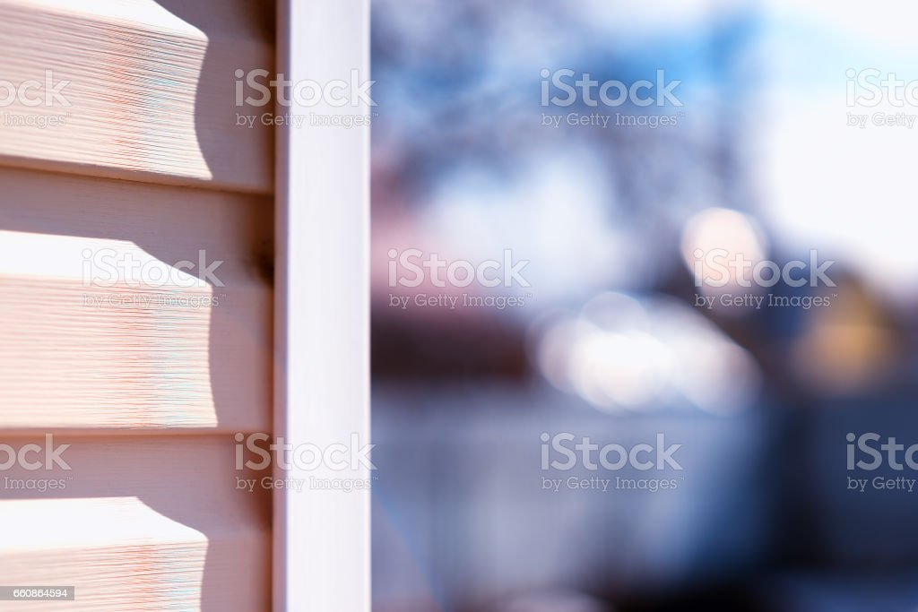 House siding daylight background stock photo