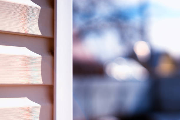 House siding daylight background stock photo