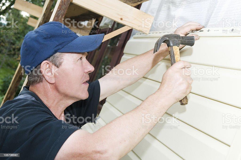 House siding works royalty-free stock photo
