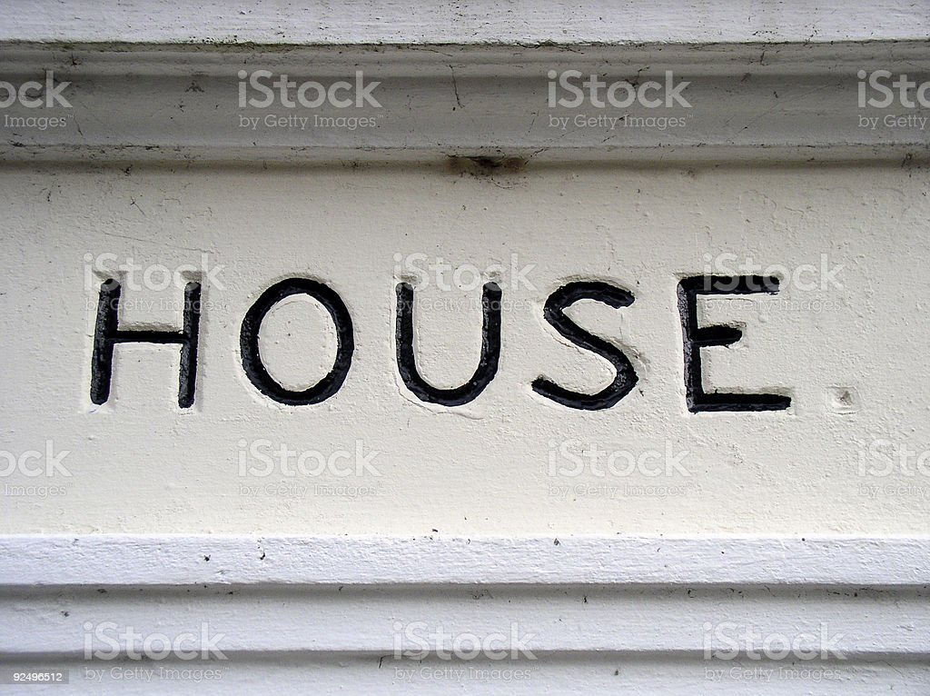 House sign royalty-free stock photo