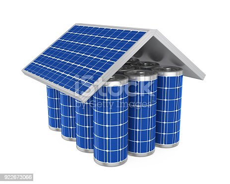 istock House Solar Batteries Isolated 922673066
