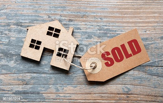 Small house with sold label