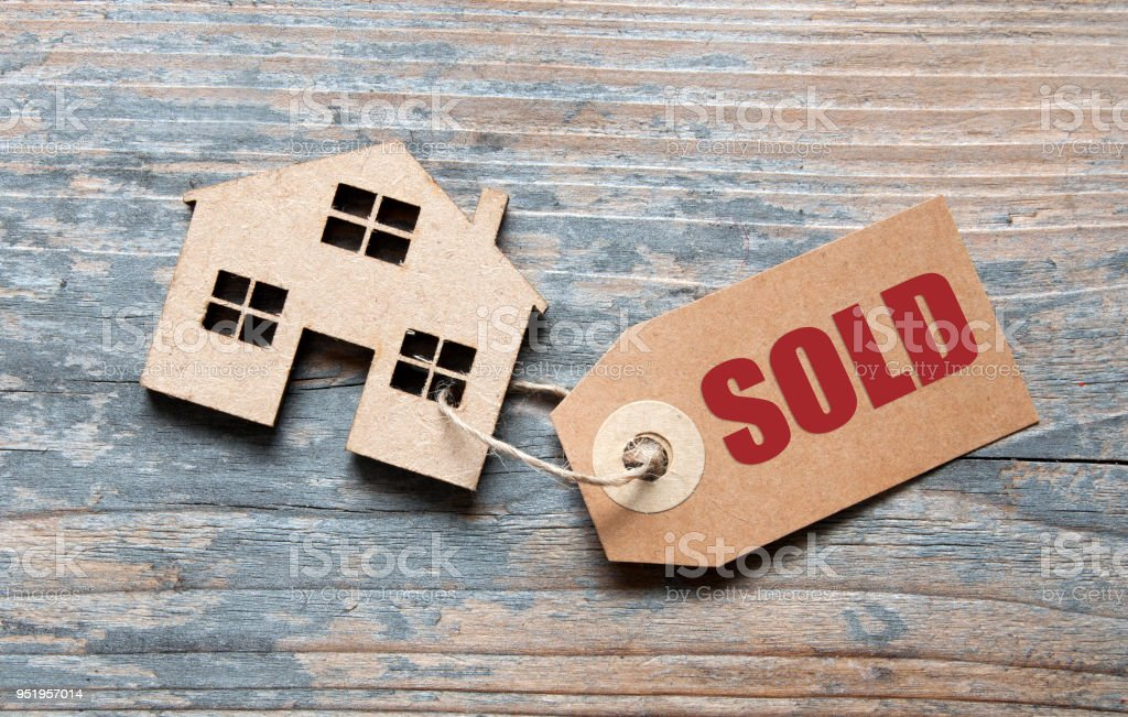 House sold label stock photo