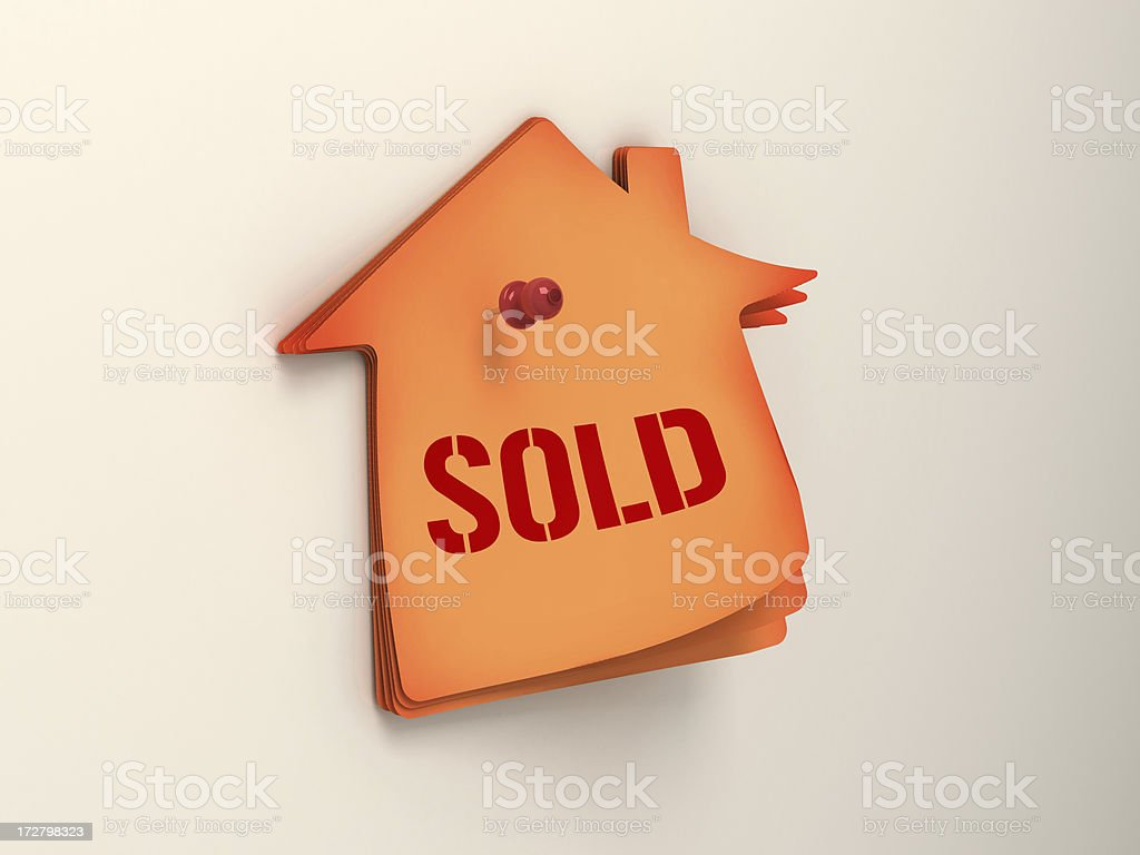 House sold royalty-free stock photo