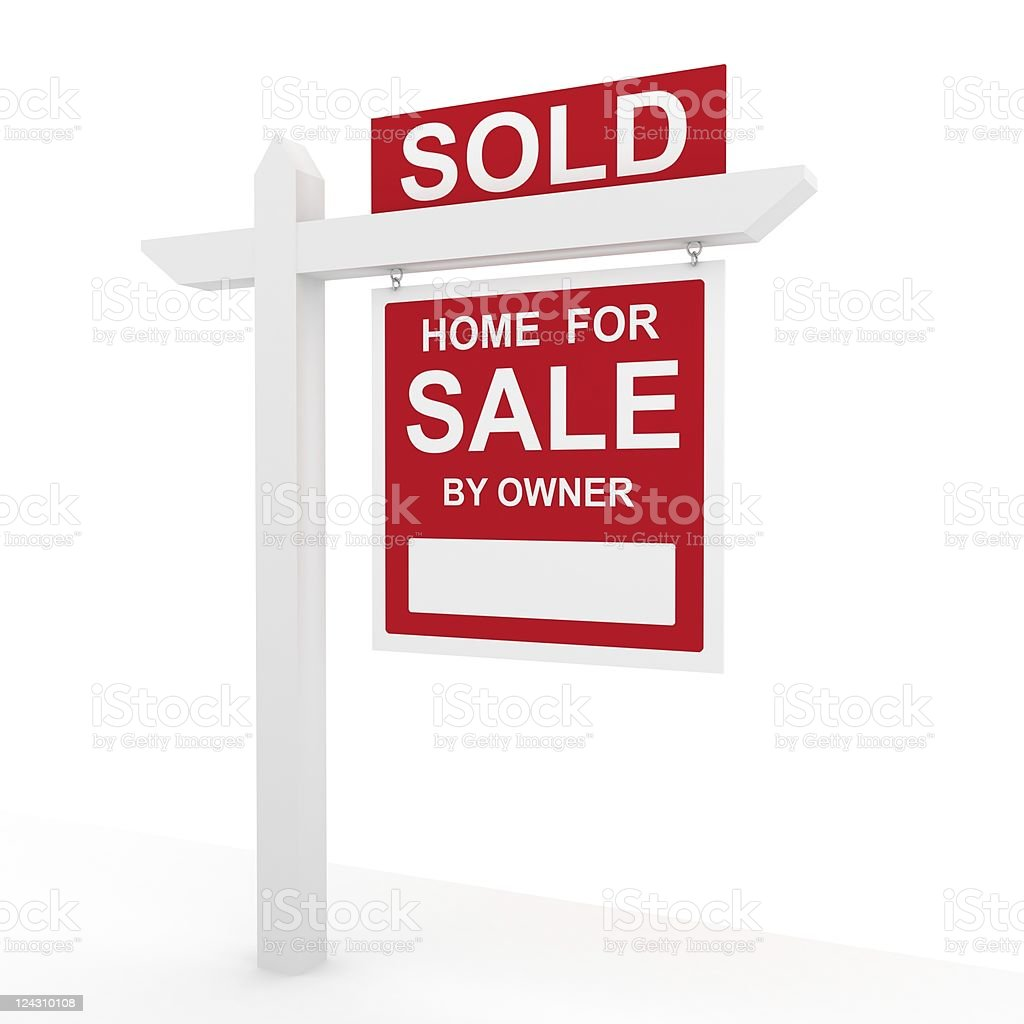 House Sold Sign royalty-free stock photo