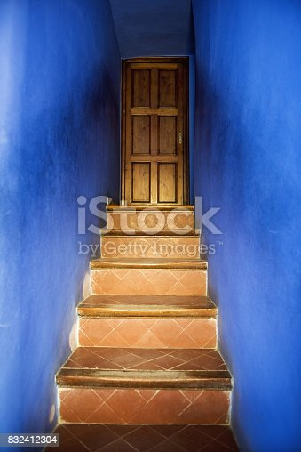 Barcelona, Spain - May 30, 2017: The house interior work at Park Guell was designed by Antoni Gaudi. Barcelona, Catalonia, Spain.