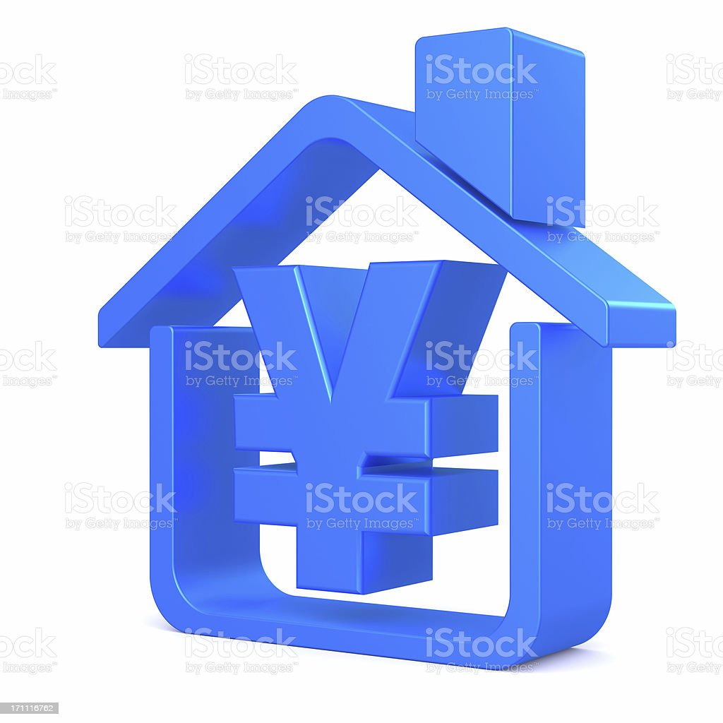 RMB House Stymbol royalty-free stock photo