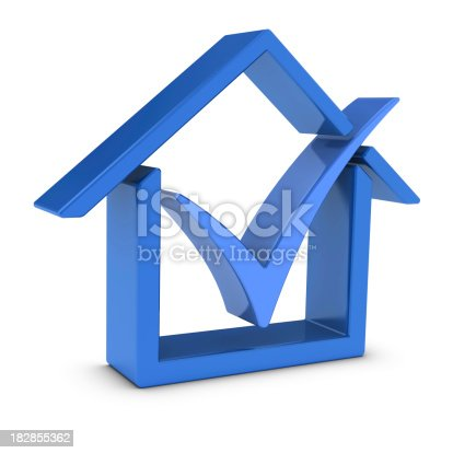 istock House Symbol and Check Mark 182855362