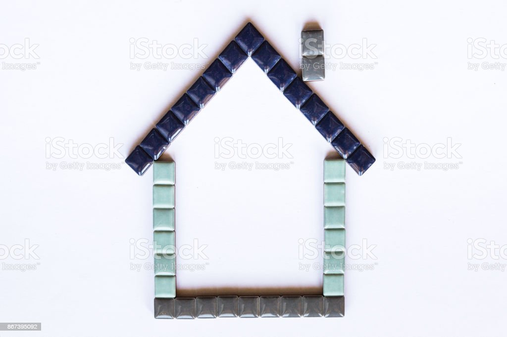 House Symbol Made With Little Bricks Stock Photo More Pictures Of