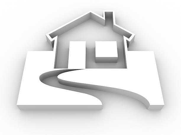 House symbol stock photo