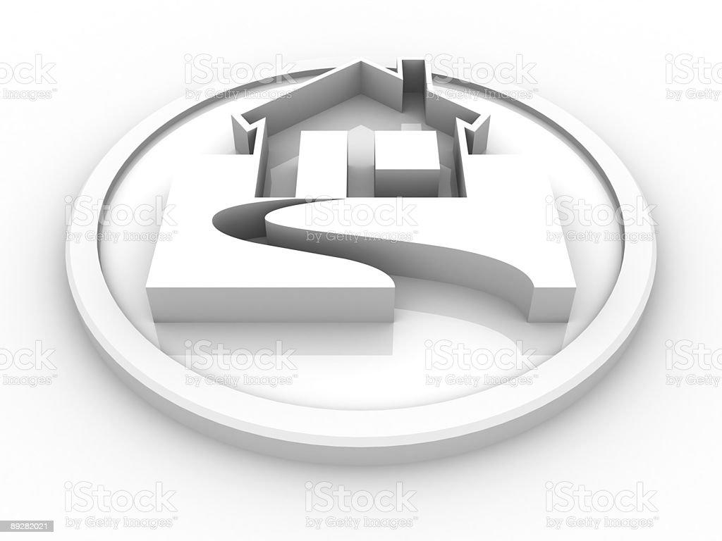 House symbol XXL royalty-free stock photo