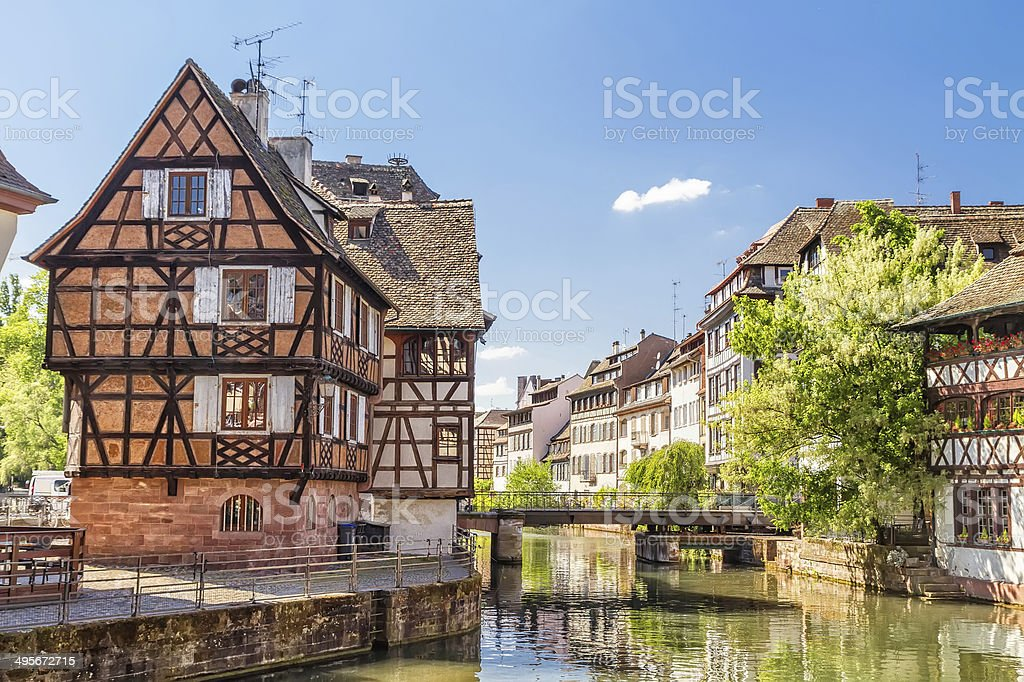 House tanners, Petite France district. Strasburgo, Francia - foto stock