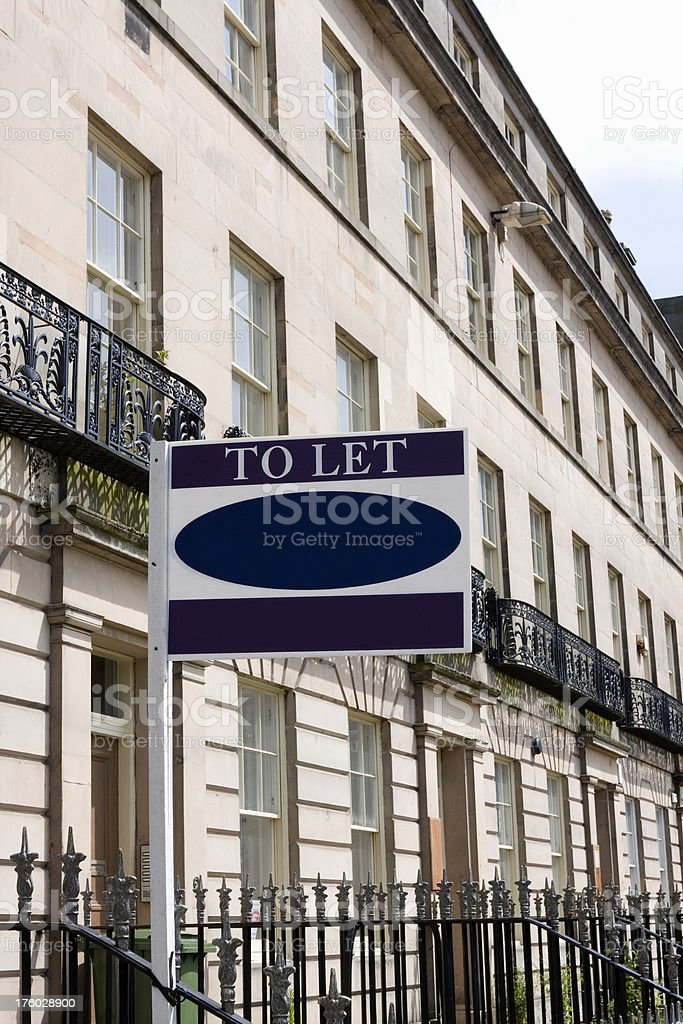 House To Let royalty-free stock photo