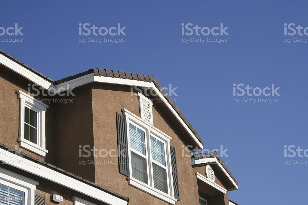 house top and blue sky 4 royalty-free stock photo