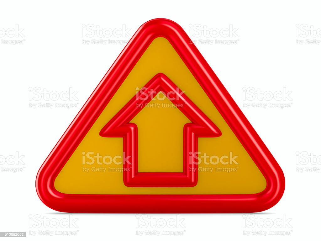 house traffic sign on white background. Isolated 3D image stock photo