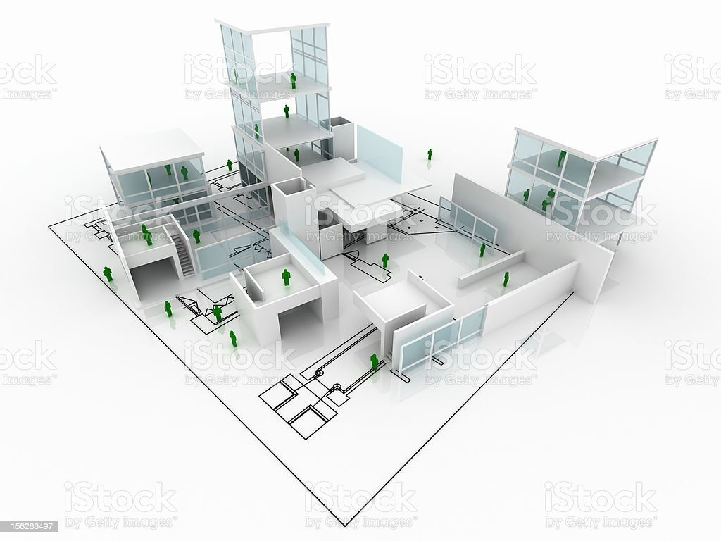 House under construction with blueprint isolated on white stock house under construction with blueprint isolated on white royalty free stock photo malvernweather Image collections