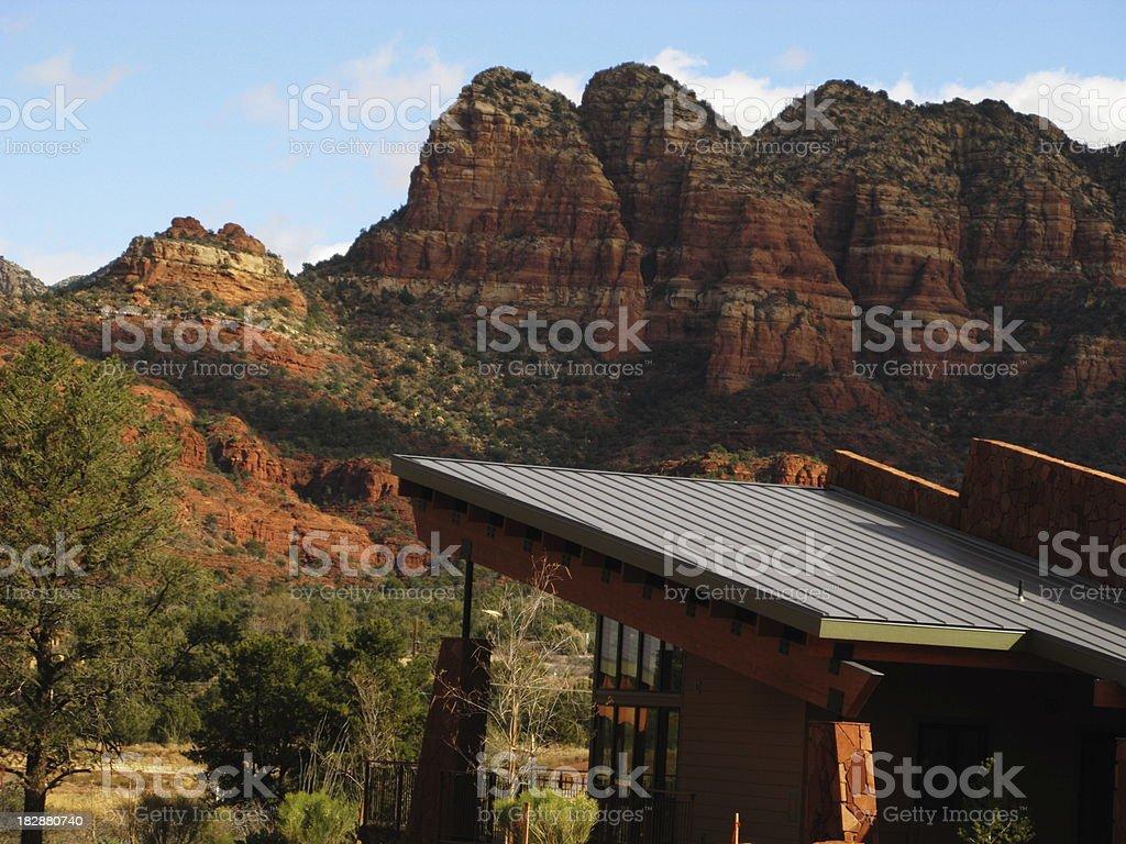 House  View Red Rock Sedona Arizona stock photo
