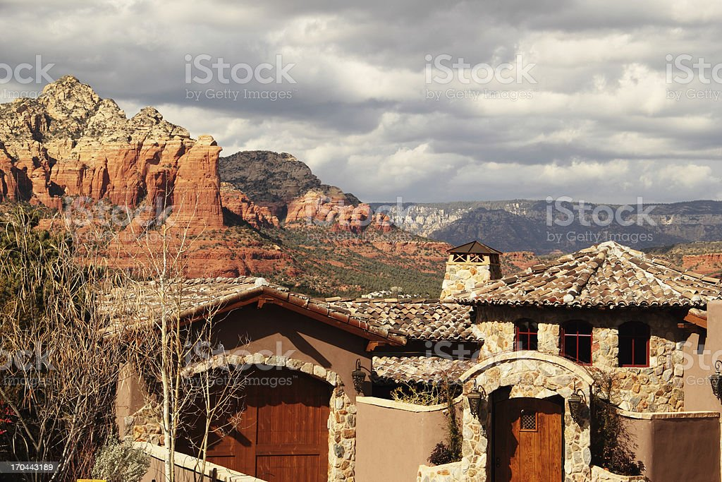 House View Sedona Red Rocks stock photo