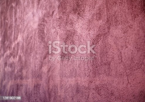 House wall texture with terracotta color plaster.