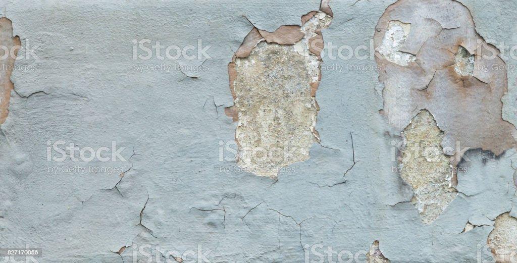 House wall with many cracks stock photo