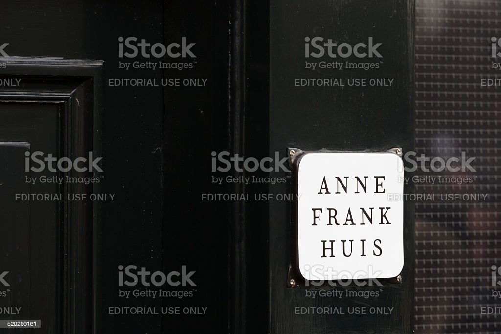 house where Anne Frank lived during World War II stock photo