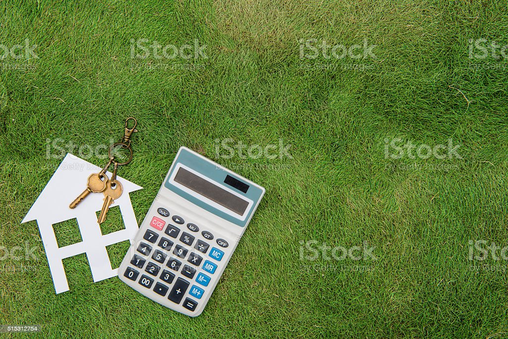 House with a home environment, green living, Mortgage Calculator stock photo