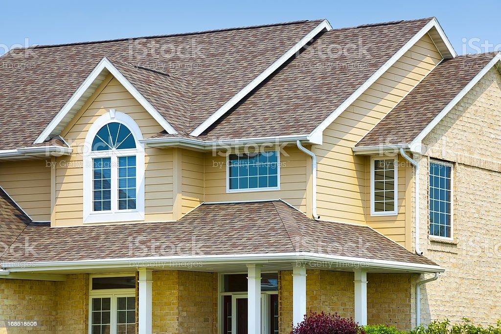 House With Brick Architectural Vinyl Siding Asphalt