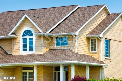 House with Brick, Architectural Vinyl Siding, Asphalt Shingle Roof