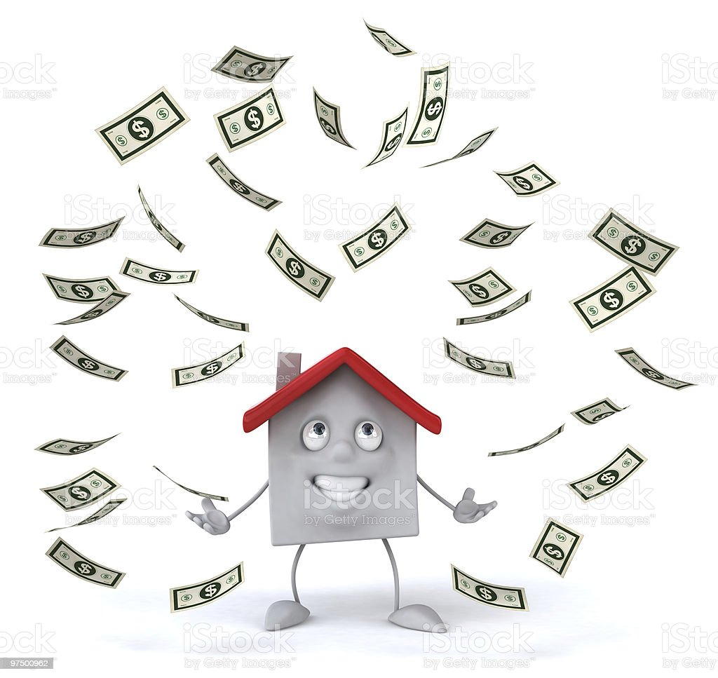 House with dollars royalty-free stock photo