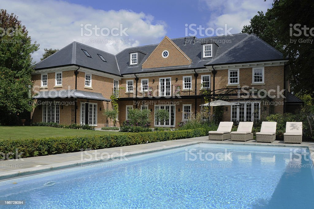 House with pool royalty-free stock photo