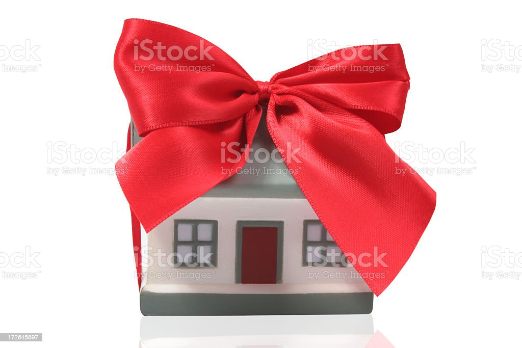 House with ribbon royalty-free stock photo