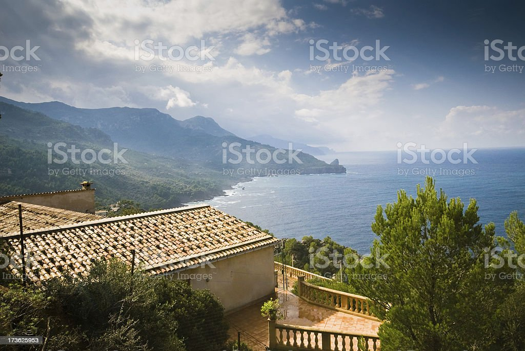 House with sea view royalty-free stock photo