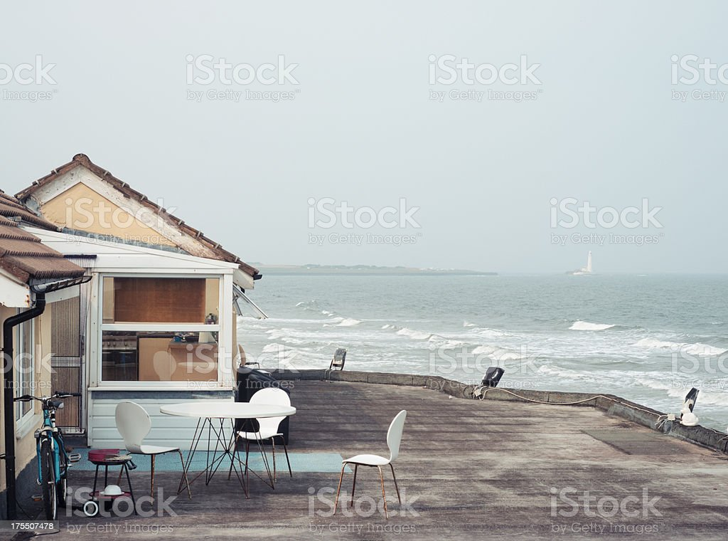 House with seaview stock photo
