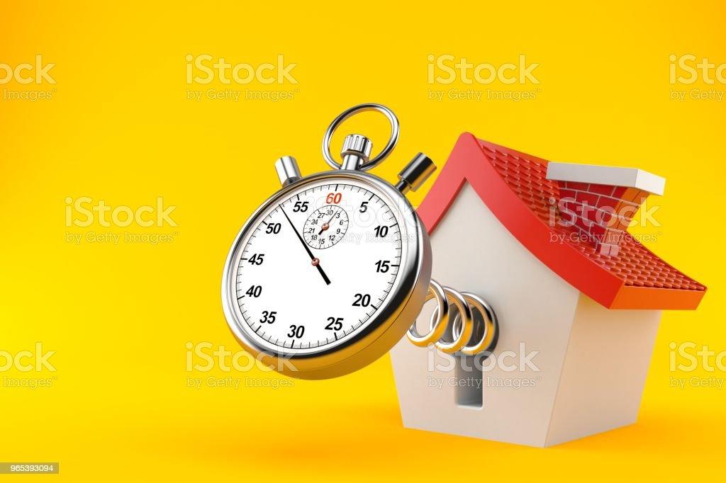 Maison avec chronomètre - Photo de Architecture libre de droits