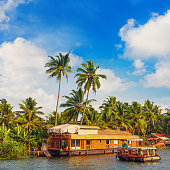 Houseboat on Kerala backwaters - India