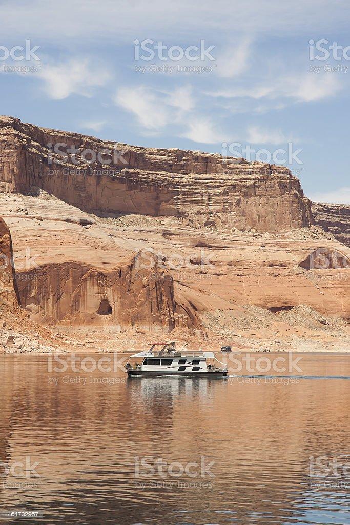Houseboat of Lake Powell stock photo