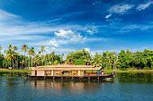 Houseboat on Kerala backwaters in Kerala, India