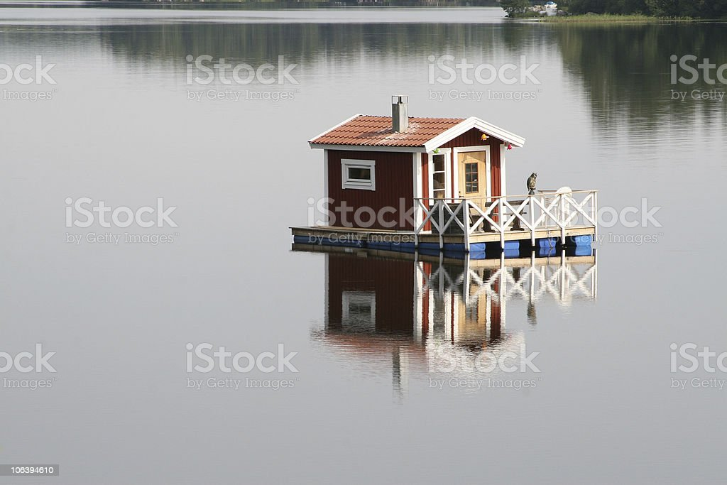 Houseboat royalty-free stock photo