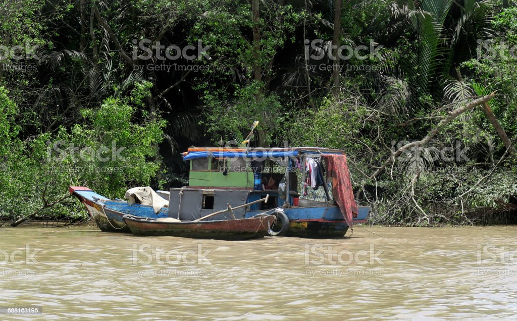 Houseboat stock photo