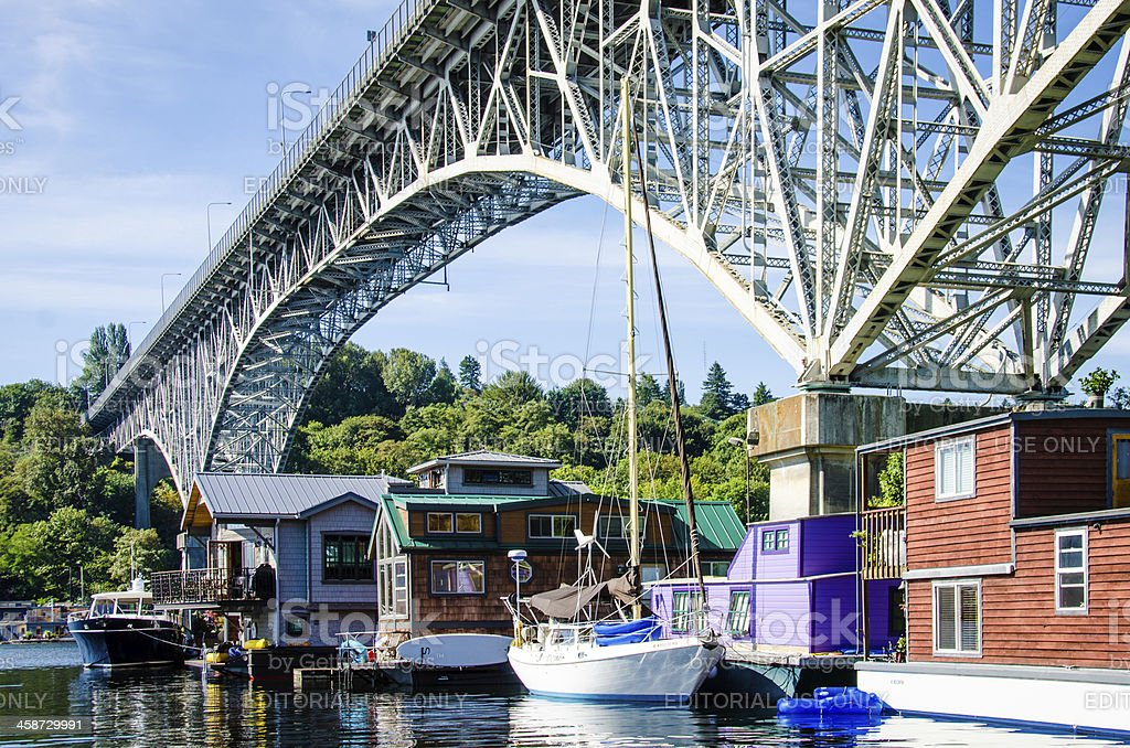 Houseboats in Freemont stock photo