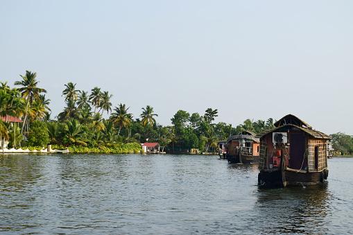 Houseboats of Aleppey, Kerala, India