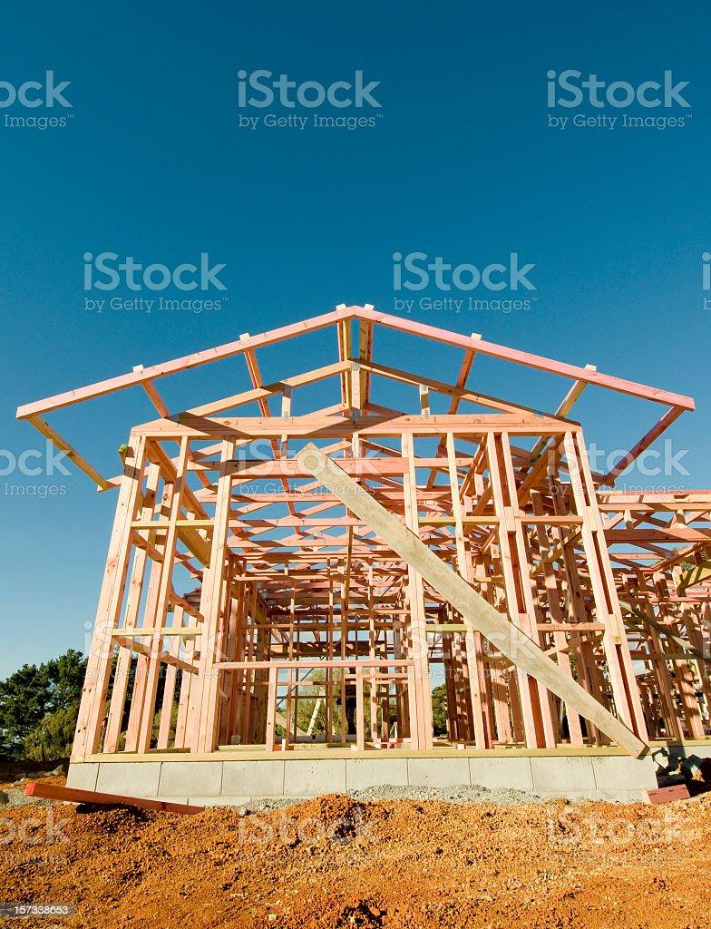 Housebuilding stock photo