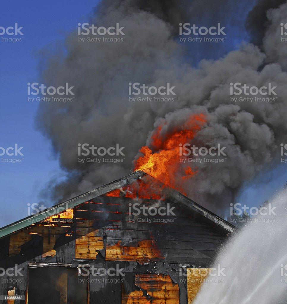 HouseFire stock photo