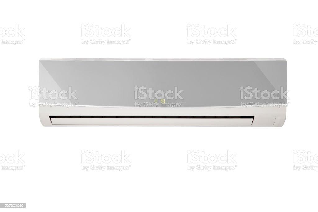 condición del aire del hogar con trazado de recorte - foto de stock